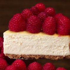 Lighter Raspberry Cheesecake. Use gf graham crackers and low fat cream cheese