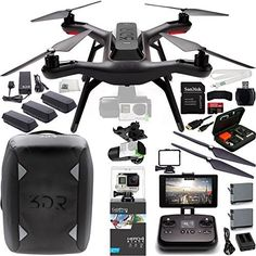 3DR Solo Quadcopter with 3-Axis Gimbal for GoPro HERO3+ / HERO4 with Manufacturer Accessories + 2 Extra 3DR Flight Batteries + 3DR Propeller Set + 3DR Solo Backpack + GoPro HERO4 Black + MORE - http://www.midronepro.com/producto/3dr-solo-quadcopter-with-3-axis-gimbal-for-gopro-hero3-hero4-with-manufacturer-accessories-2-extra-3dr-flight-batteries-3dr-propeller-set-3dr-solo-backpack-gopro-hero4-black-more/