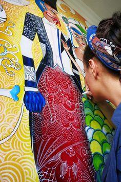 murals with uni posca