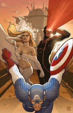 x-men 9 - captain america var by ~johntylerchristopher on deviantART