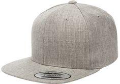 1076ce1cf63 Grab this Flexfit 6089M Heather Grey Premium Classic Snapback Hat! Go get  it now only