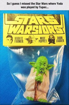 "Crazy Foreign Bootlegs - First you hack up some old Karate Kid toys and glue Mr. Miyagi's face on Yoda's body, then cast some toys.  Voila!  You have your first set of Stars Warsiors!  With the Karate Farmer, the Wise Puppet, and the enigmatic Door Ladder!!!  Now I want to try the phonetic version of ""Darth Vader"" in Google Translate and see how the Chinese version pronounces it!"