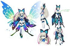 View an image titled 'Lumen Concept Art' in our Azure Striker Gunvolt art gallery featuring official character designs, concept art, and promo pictures. Female Character Design, Character Design Inspiration, Character Concept, Character Art, Azure Striker Gunvolt, Pokemon, Robot Concept Art, Illustrations, Anime Art Girl