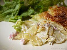 La Cuisine de Myrtille: Gratin de pommes de terre aux lardons et aux oignons