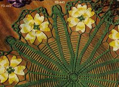 NEW! Coreopsis Doily crochet pattern from Newest in Floral Doilies, Book No. 268, from 1950.
