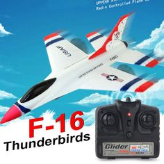 2018 New Original Wltoys Thunderbirds EPP Remote Control RC Glider Airplane Remote Control Planes, Rc Remote, Rc Glider, Nitro Boats, Airplane Toys, Airplanes, F 16, Gliders, Aircraft
