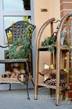 Winter decoration in the outdoor area - Winter decoration outdoors – Karin Urban – Natural STyle - Decoration Bedroom, Room Decor, Wall Decor, Inside Design, Outdoor Areas, Interior Styling, Interior Design, Modern Decor, Home Furnishings