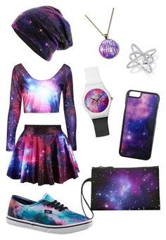 """""""galaxy"""" by girlybunny ❤ liked on Polyvore featuring Vans and Roial"""