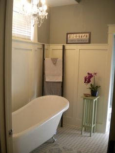 Craftsman Bathrooms, Master Bath with claw foot tub!