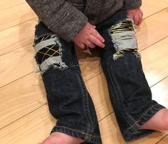 Baby Girl jeans size 12 months by DestroyedBySnow on Etsy