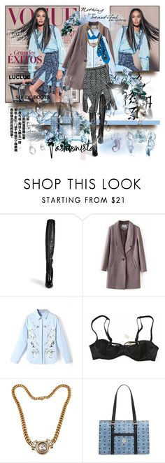 """""""Joan Smalls  for Vogue México 2015"""" by merrygorounds ❤ liked on Polyvore featuring Ermanno Scervino, Agent Provocateur, Bulgari, MCM, suedeboots and lucluc"""