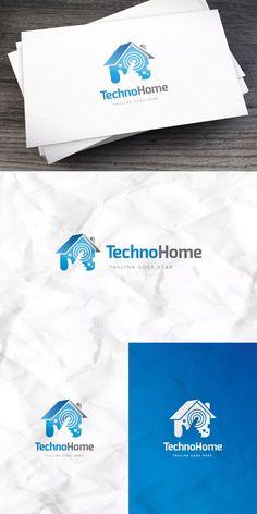Techno Home Logo Template AI, EPS