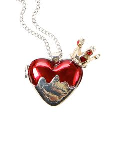 Losing our heads over this Alice In Wonderland heart-shaped locket necklace!