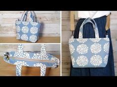 Tote Bag, Sewing, Crafts, Bags, Videos, Youtube, Fashion, Old Jeans, Taschen