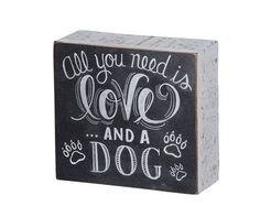 Love and a Dog Plaque