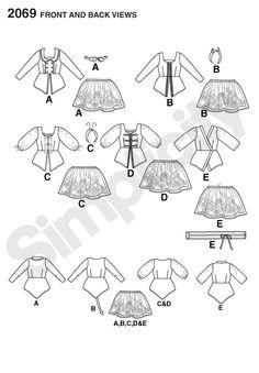 Might work for 2-piece irish dance dress pattern