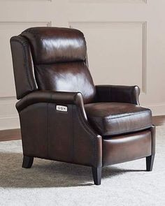 Shop Robin Leather Powered Recliner Chair from Bernhardt at Horchow, where you'll find new lower shipping on hundreds of home furnishings and gifts. Leather Recliner Chair, Leather Ottoman, Chair And Ottoman, Bernhardt Furniture, Chair Price, Leather Dining Chairs, Steel Furniture, Leather Furniture, Power Recliners
