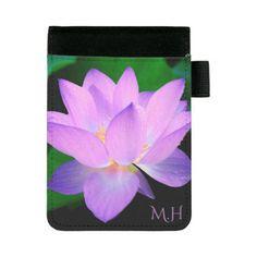 Lilac Lotus Flower Mini Padfolio - beauty gifts stylish beautiful cool