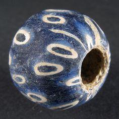 Ancient JATIM GLASS BEAD. ø 19,5 mm. 6-9th century. EAST JAVA, INDONESIA