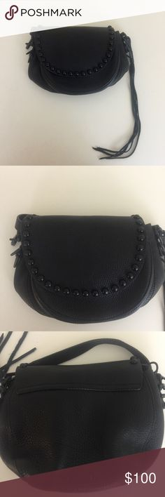 Rebecca Minkoff Unlined Saddle Bag $295 Pre-owned but in good condition. Has wear marks but still in great shape. Rebecca Minkoff Bags Crossbody Bags