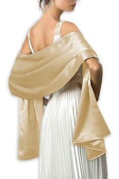 Dresstells® Satin Bridal Evening Shawls Scarves