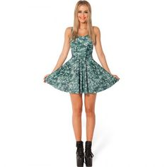 Christmas Tree Print Skater Dress