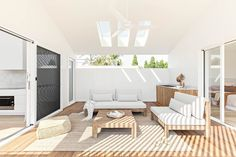 Outdoor Spaces, Outdoor Living, House Proud, Freedom Furniture, Built In Desk, Affordable Housing, Outdoor Furniture, Outdoor Decor, White Walls