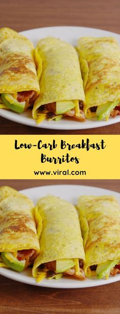 Low-Carb Breakfast Burritos Low-carb breakfast burritos carbohydrates The best recipes: low-carb breakfastLowCarb Mushroom Cream PastaLow-Carb Chicken Zucchini Enchilada Breakfast And Brunch, Healthy Low Carb Breakfast, Healthy Protein Snacks, Ketogenic Breakfast, Breakfast Burritos, Breakfast Recipes, High Protein, Breakfast Ideas, Low Carb Recipes