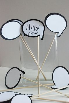 fun photo props  thought bubbles