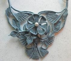 macrame necklace by Jeanne Wertman