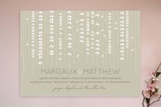 WILLOW TREE Wedding Invitations by sweet street gals at minted.com. white background....blue or green?