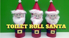 Christmas Craft - Toilet Paper Roll Santa Claus - Toilet Paper Roll Craft