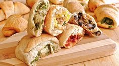 Tired of the same-ol' same-ol' appetizers? Try these savory stuffed crescent rolls, stuffed with a variety of meat and cheese fillings. Your tastebuds will never be bored again.