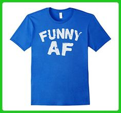 Mens Retro Funny AF T Shirt Funny AF Shirt T Shirt 2XL Royal Blue - Retro shirts (*Amazon Partner-Link)