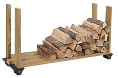 2x4basics Firewood Rack System, Black, 90144, Log Holder Storage Carrier, New