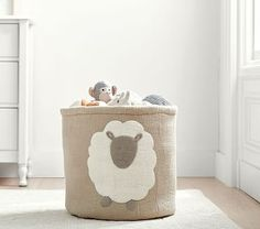 Felted Lamb Toy Dump Storage  from Pottery Barn Kids