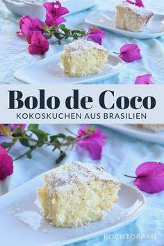 Soaked coconut cake {Bolo de Coco} a specialty from Brazil #casserole #keto #ketocasserole
