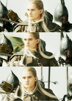 Legolas!! I love how he always looks like he's figuring out the situation