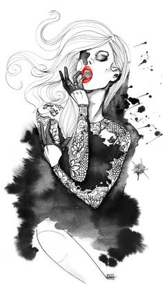 shu84: Sara Ligari Fashion Illustrations                                                                                                                                                                                 More
