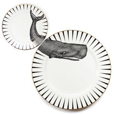 whale of a time plate