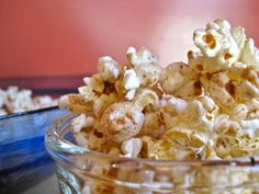 Sweet and Spicy Popcorn - perfect party food to have out in bowls. Oh and husbie loves the popcorn!