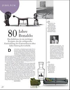 Un bellissimo articolo ripercorre e celebra gli 80 anni di Bonaldo. Das Ideale Heim (CH). #Design #Press