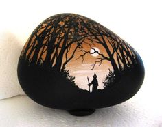 Painted rock, painted stone, stone painting, rock painting. Rock art, Stone art. Scenery