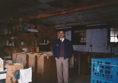 In celebration of our 25th anniversary, every Thursday we post a picture for Throw Back Thursday. #tbt  Co-owner, Doug Shinn pictured in an old warehouse. Check out those old school coolers in the background! #entrepreneur #thewaterguy #familyowned #25years