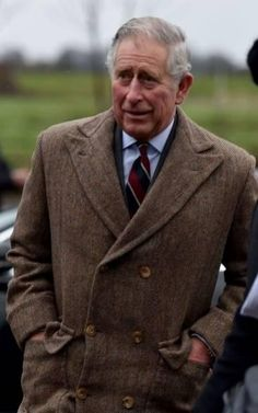 Prince Charles wearing his Anderson & Sheppard coat