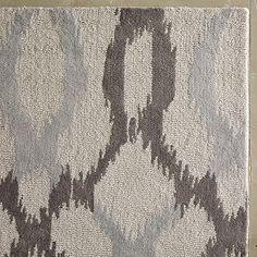 Ikat Links Wool Rug - Frost Gray #westelm