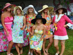 Lovin' the sundresses with floppy hats