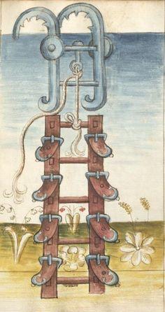 Bellifortis VerfasserKyeser, Conradus  ErschienenElsaß, [um 1460] Ms. germ. qu. 15  Folio 74r