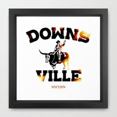 Downsville Framed Art Print by Faintness graphics - $35.00