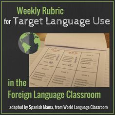 Participation Rubric for Language Classes : For proficiency based classroom: a weekly rubric for target language accountability. Middle School Spanish, Elementary Spanish, Spanish Classroom, Spanish Teacher, French Classroom, Classroom Ideas, Seasonal Classrooms, Spanish Teaching Resources, Teaching Strategies